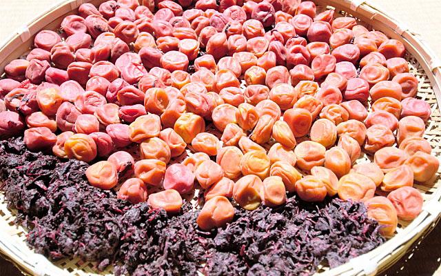 梅干しと赤紫蘇の土用干し